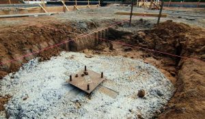 steel beam footing
