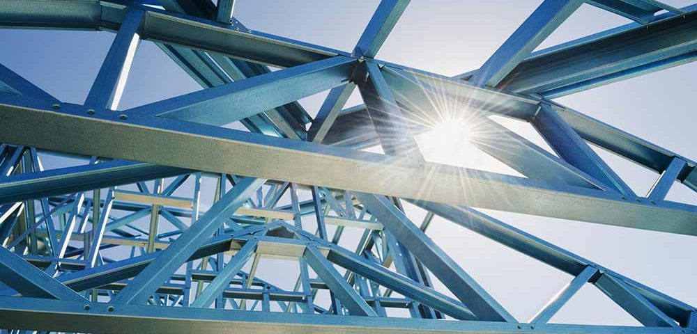 Steel and iron supports for structures
